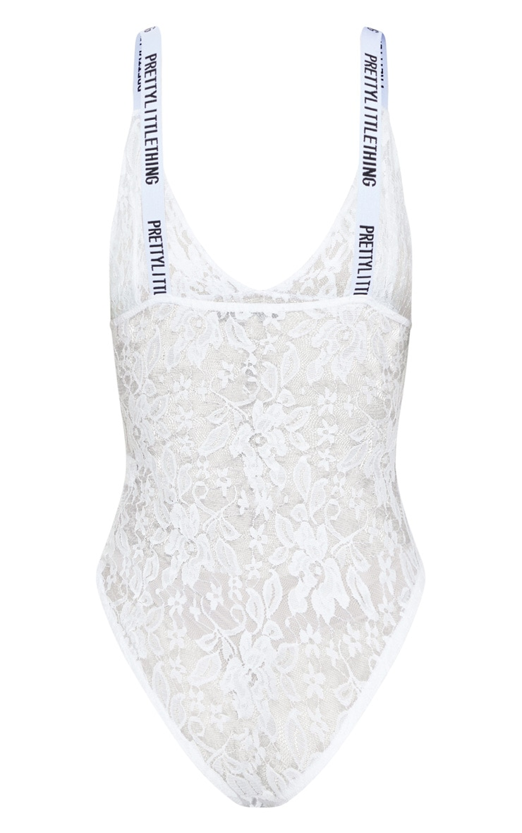 PRETTYLITTLETHING White Lace Body 4