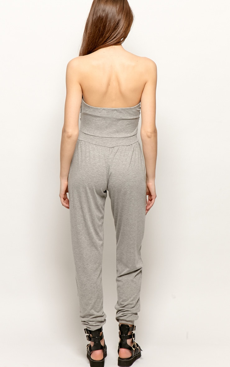 Shelby Grey Ruched Jumpsuit 2
