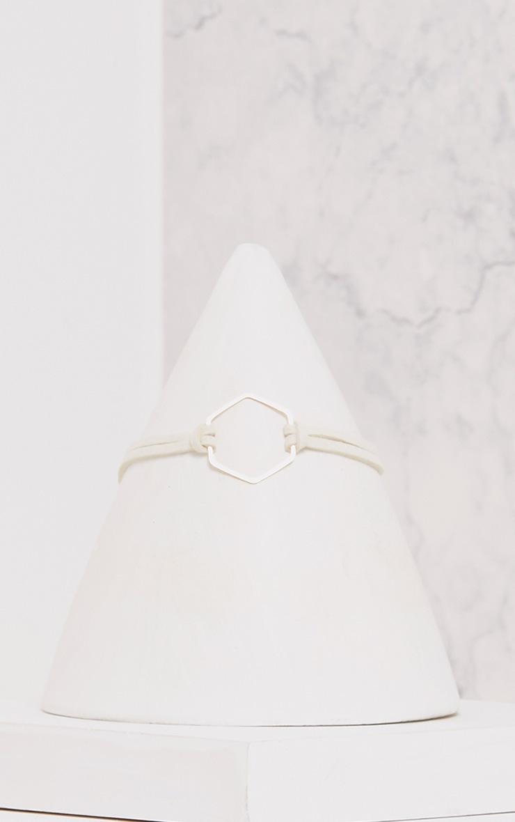 Cream Hexagon Choker  2