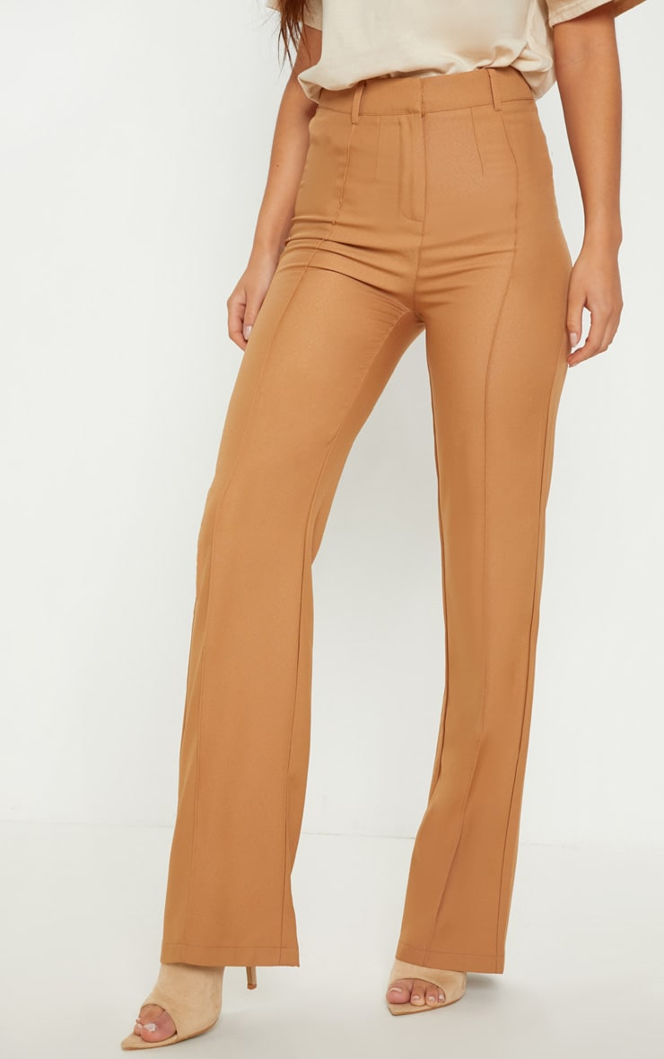 Taupe Anala High Waisted Straight Leg Trouser 2