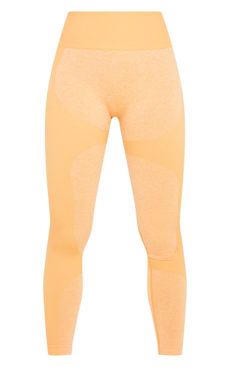 Orange Seamless 2 Tone Contour Legging 3