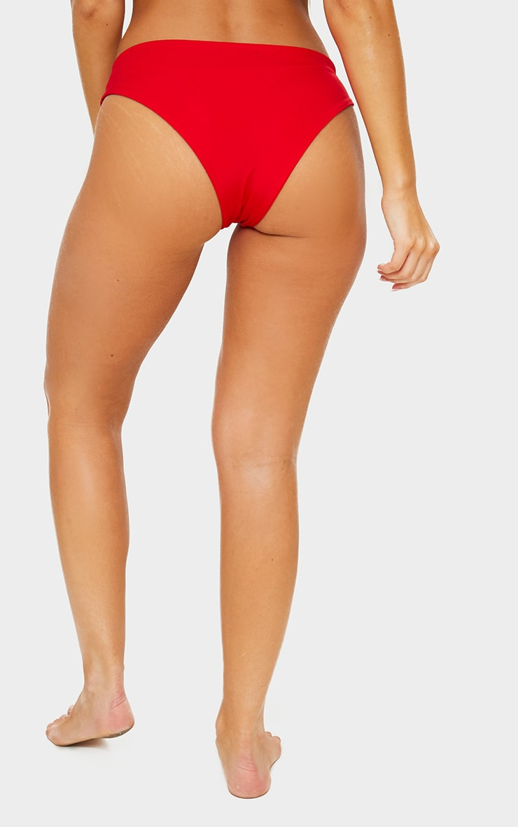 Red Mix & Match Cheeky Bum Bikini Bottom 4