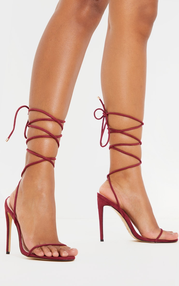 Wine Strappy Sandal 1