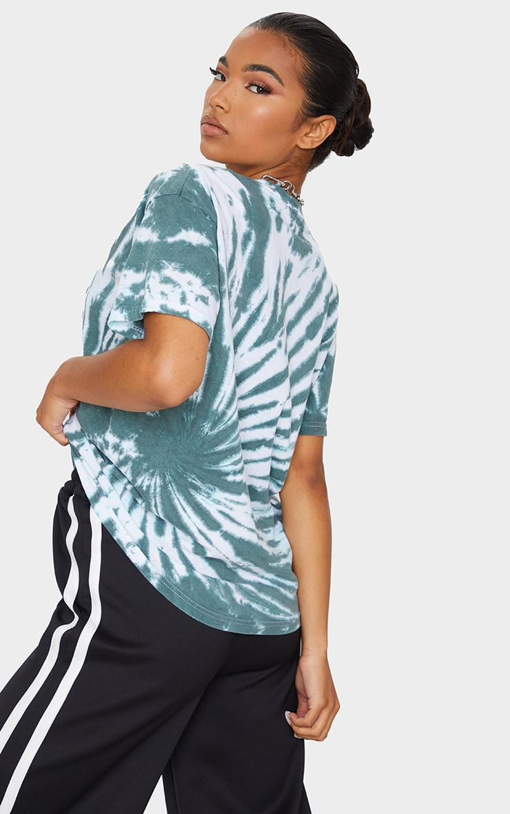 Green Costa Rica Printed Tie Dye T Shirt 2
