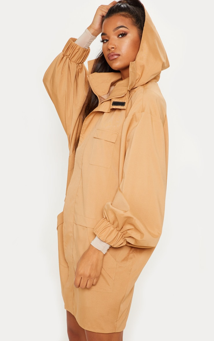 Camel Oversized Sports Mac  1