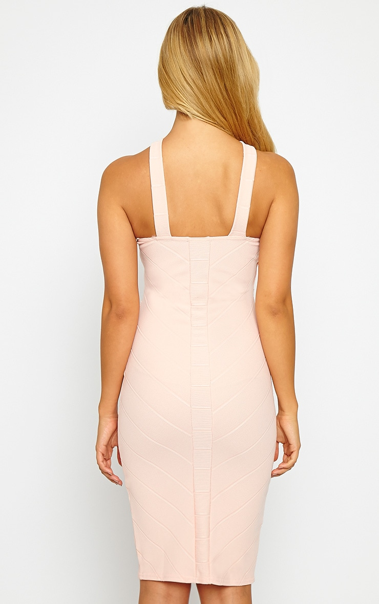 Becka Nude Cross Front Bandage Dress 2