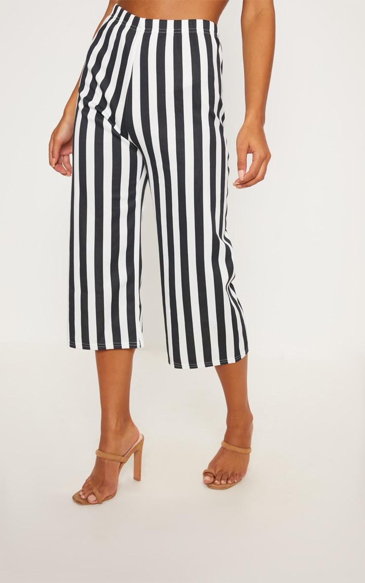 Black Striped Culottes  2