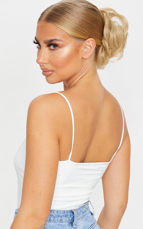 LullaBellz Premium Messy Bun Hair Up Scrunchie Warm California Blonde 1