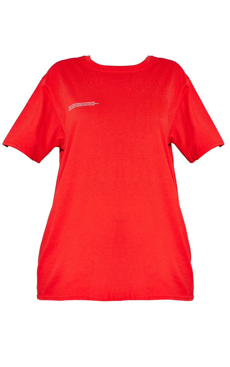 Red Marl Future Is Bright Small Print Text Short Sleeve T Shirt 5