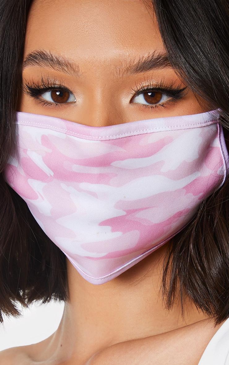 Pink Camo Face Mask 1