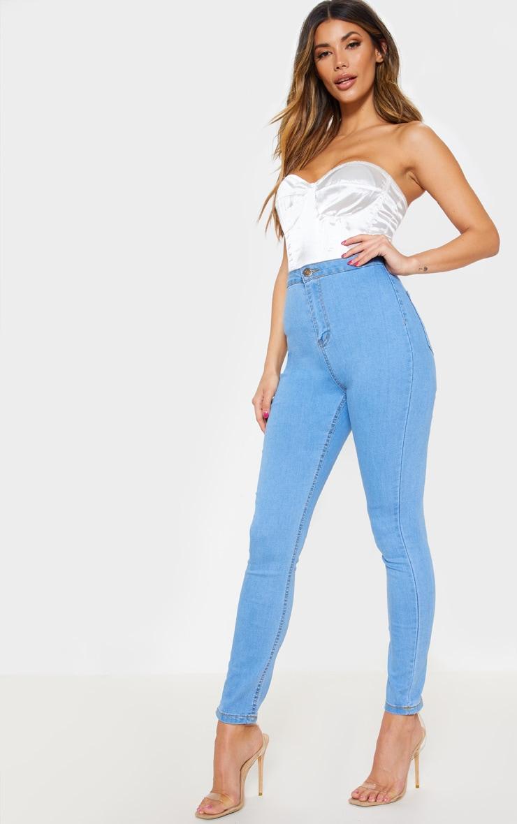 Light Wash Disco Fit Skinny Jean  1