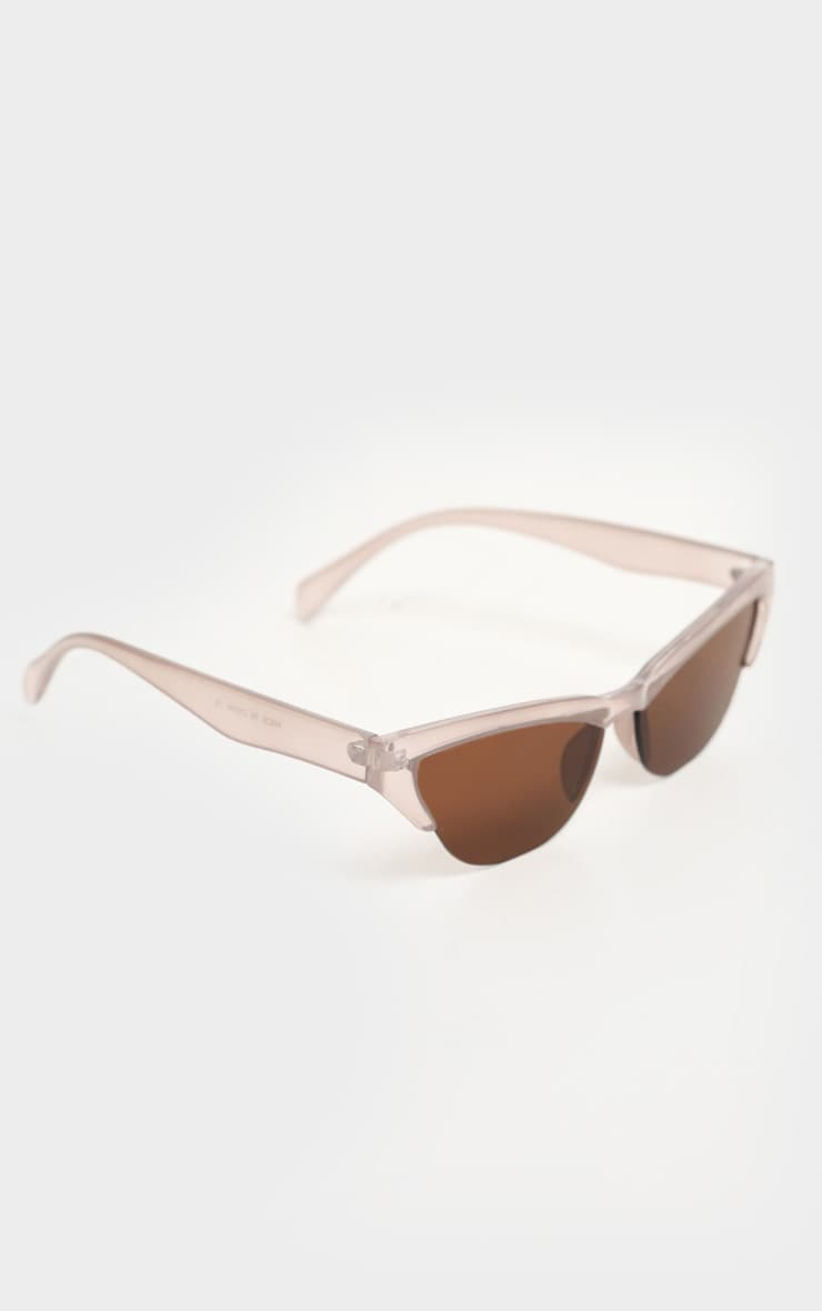 Taupe Slim Cat Eye Sunglasses 3