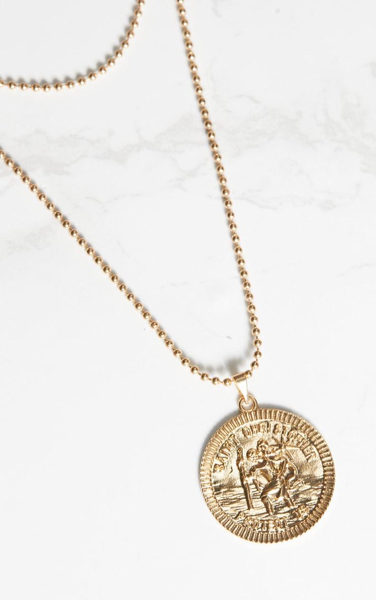 Gold Saint Coin Renaissance Necklace 2