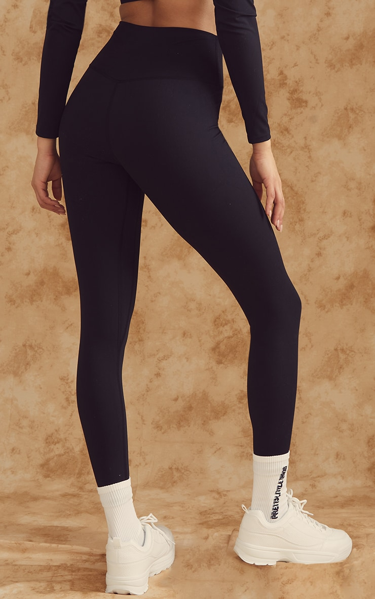 Black Sculpt Luxe High Waist Gym Legging 3