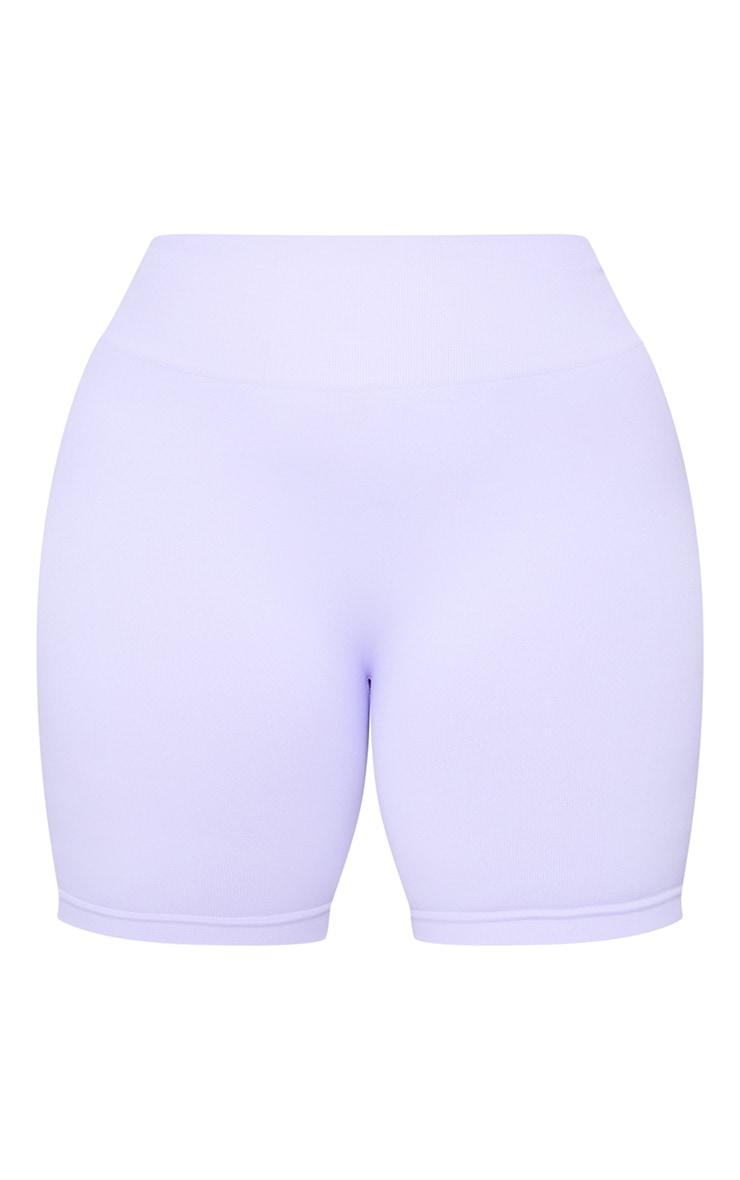 Plus Lilac Seamless Bike Shorts 6