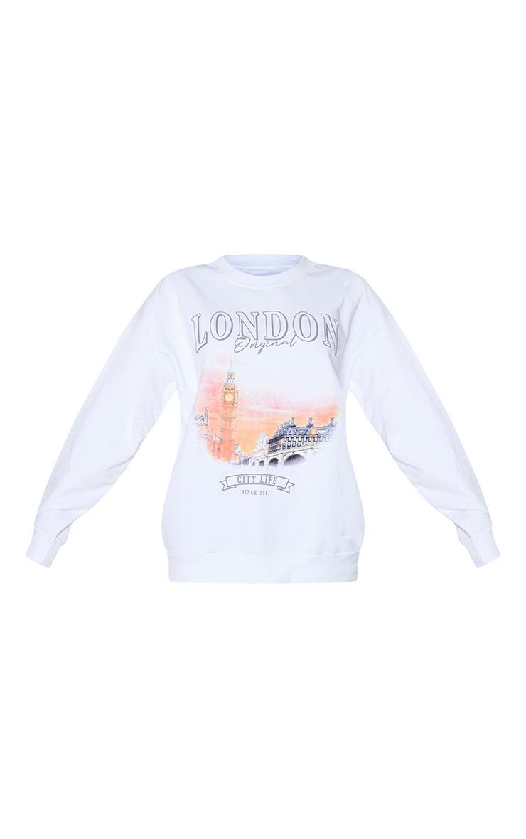 White London Print Oversized Sweatshirt 5