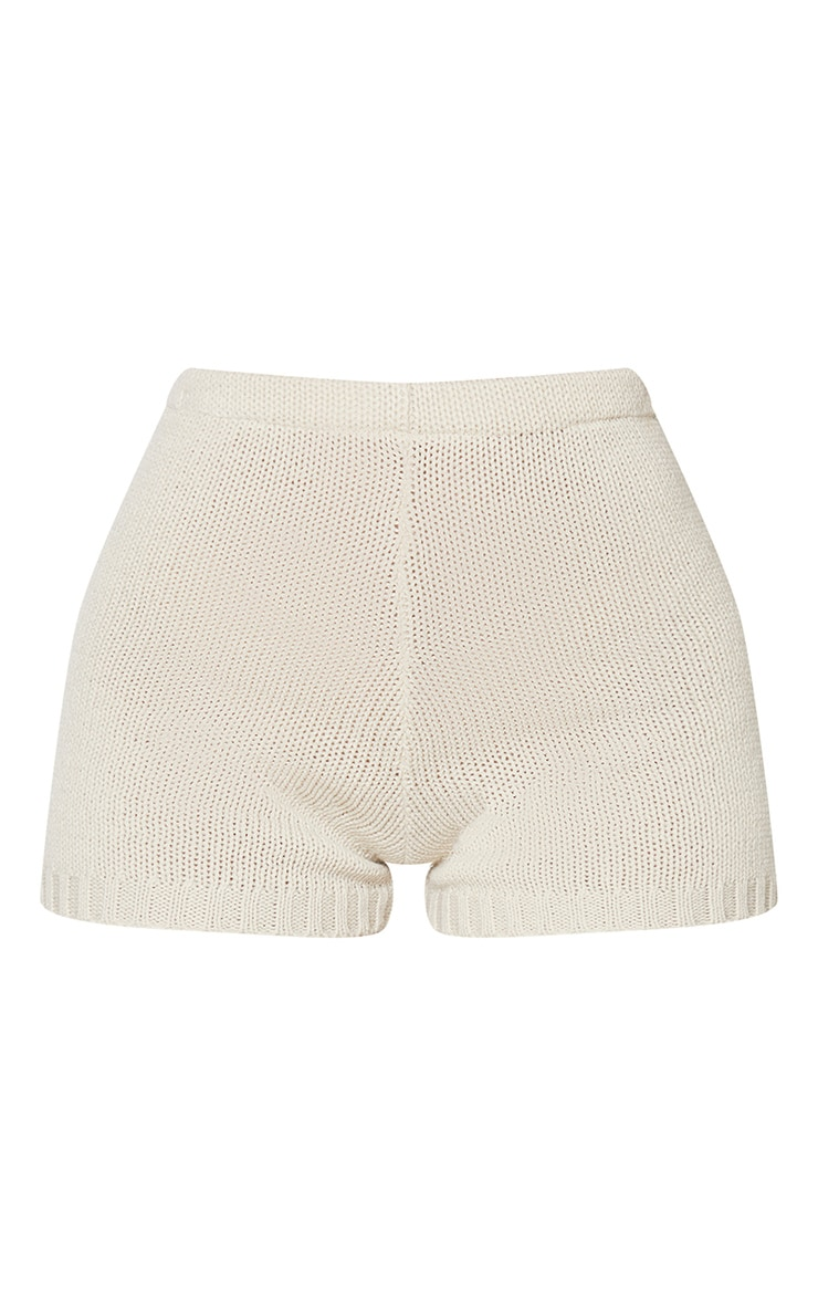 Cream Knitted High Waisted Short 6