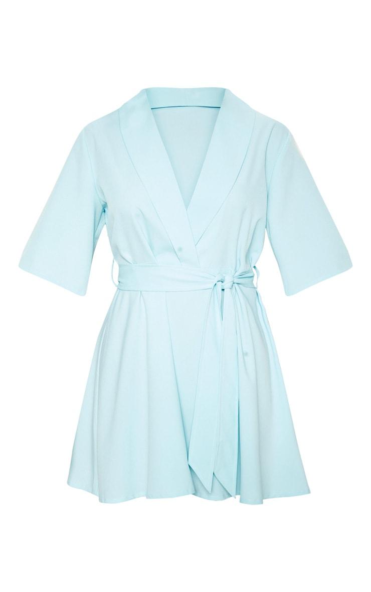 Baby Blue Tie Tea Dress 3
