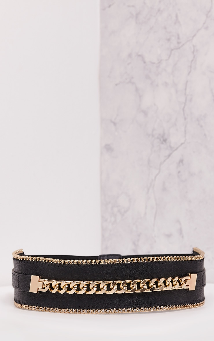 Caliah Black Chain Detail Belt 4