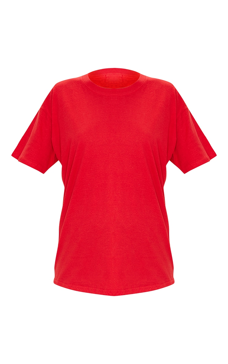 Ultimate Red Oversized T Shirt 5