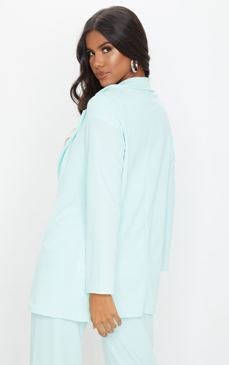 Mint Green Oversized Boyfriend Blazer 2