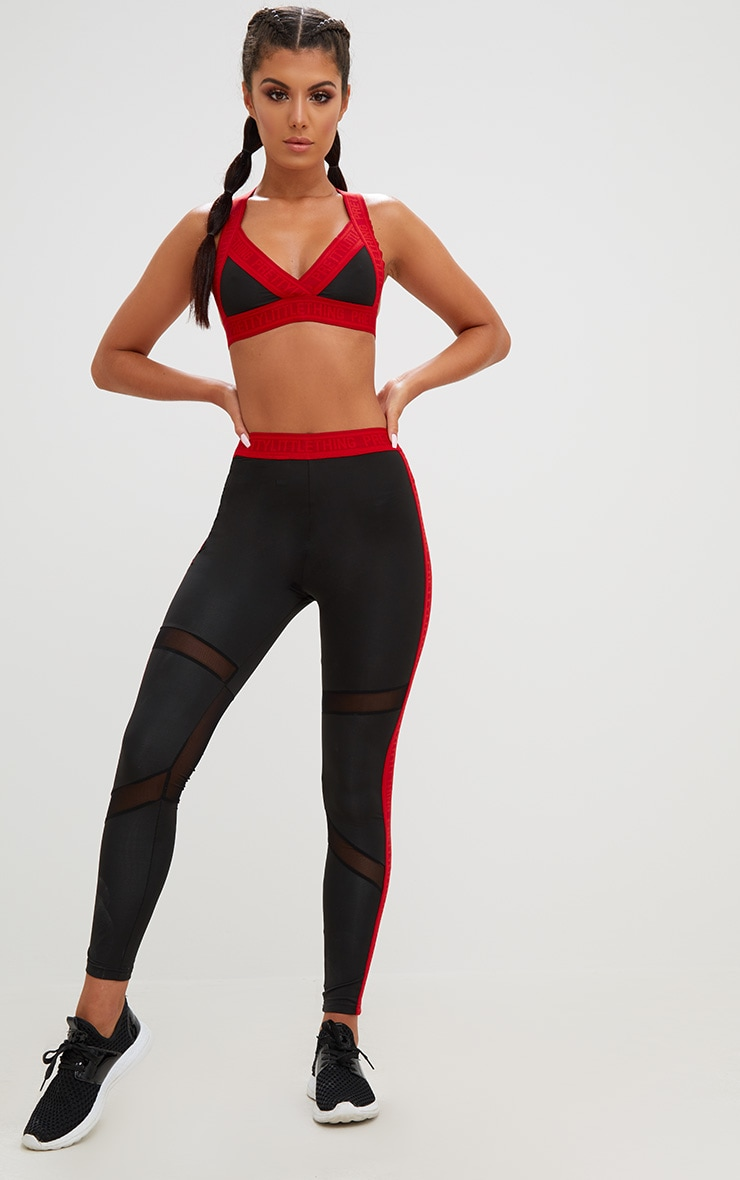 PRETTYLITTLETHING Red Band Crop Top 5