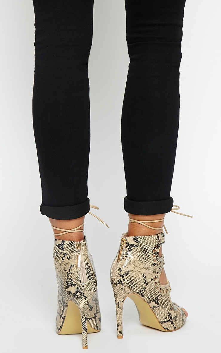 Xylia Snake Cut Out Detail Heels 2