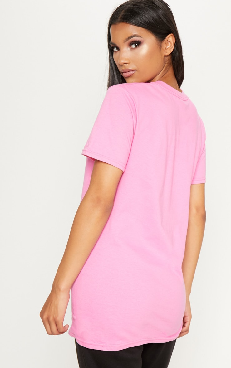 Pink Cali Girl Slogan Oversized T Shirt 2