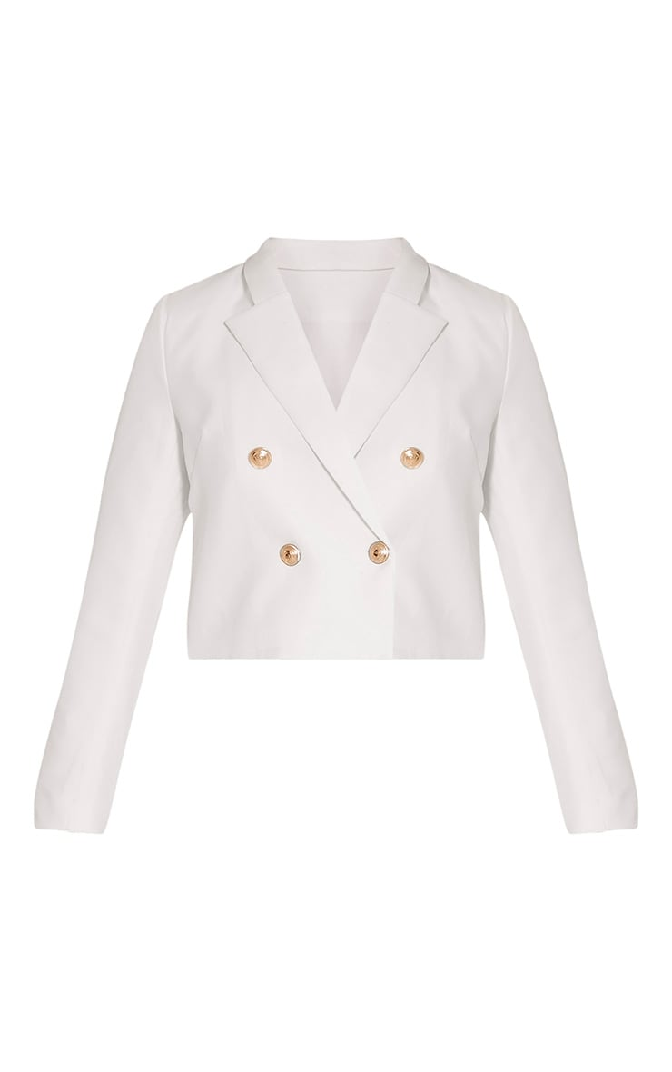 Dionne Cream Cropped Military Style Blazer 3
