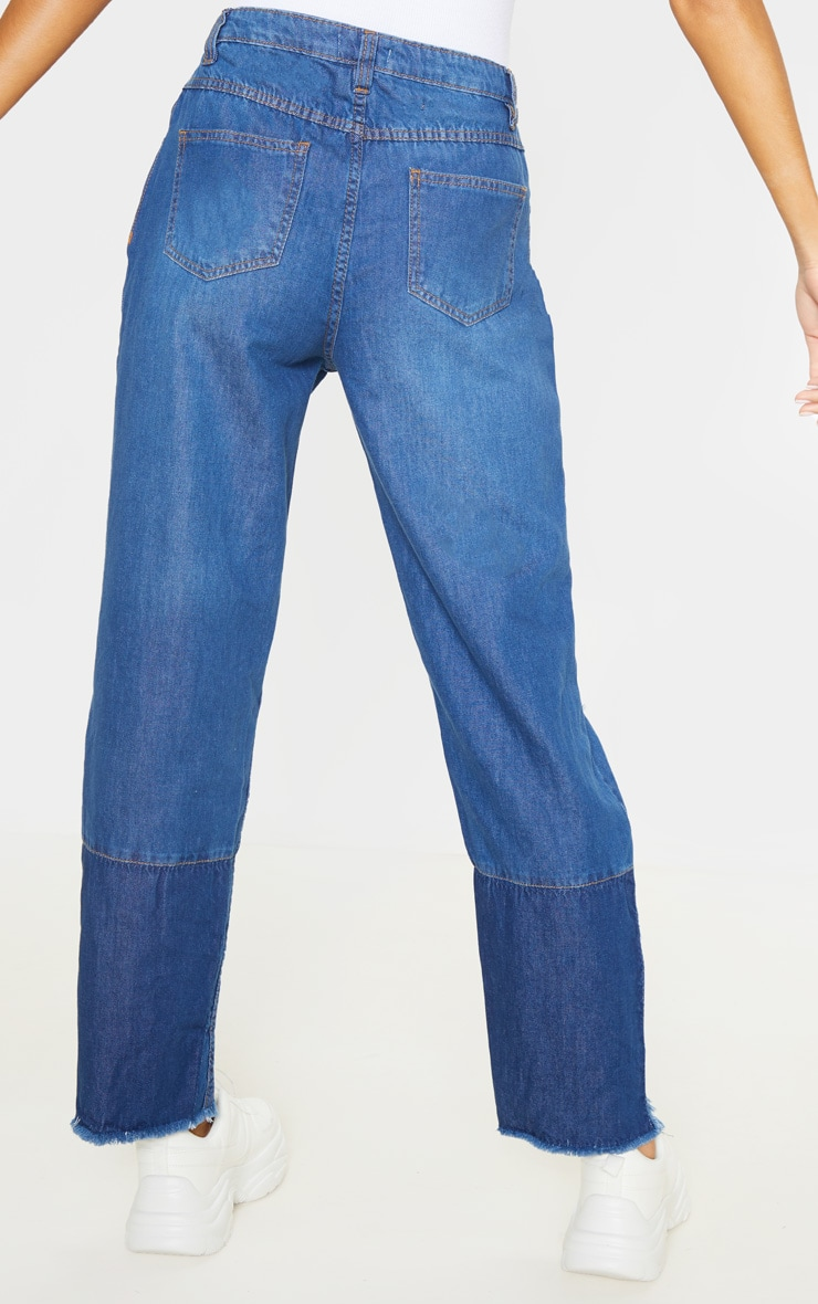 Tall - Jean bleu moyennement délavé déchiré à ourlet élimé 4