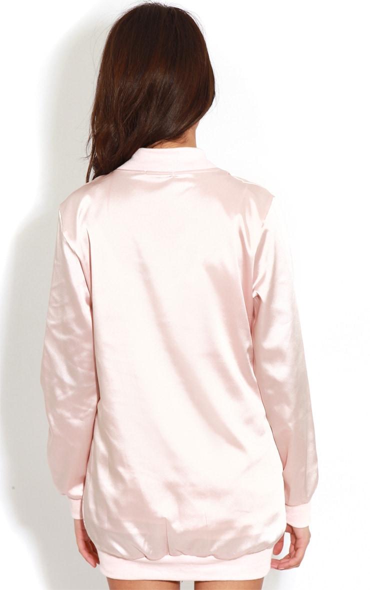 Clara Pink Silk Bomber Jacket 2