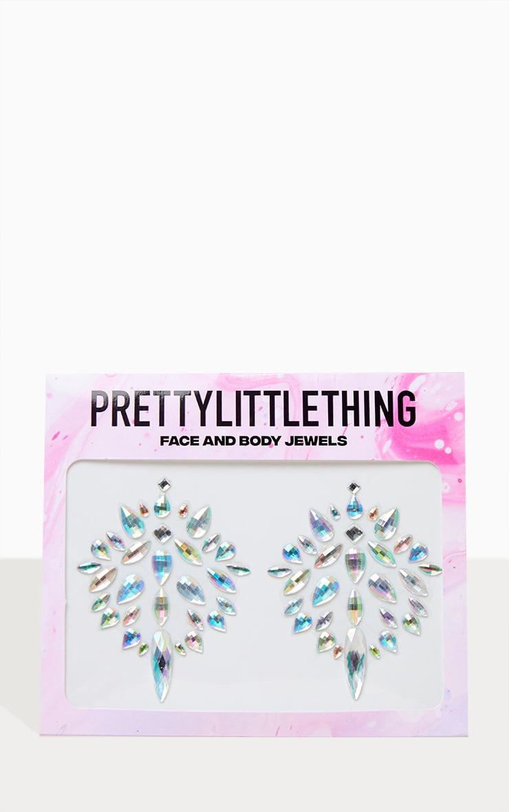 PRETTYLITTLETHING Holographic Diamond Boob Jewels 1