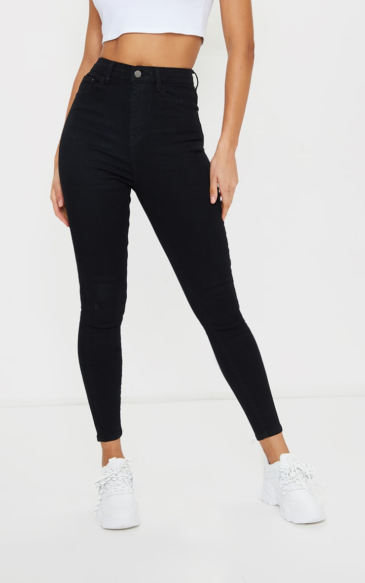 PRETTYLITTLETHING Black 5 Pocket Skinny Jean 2