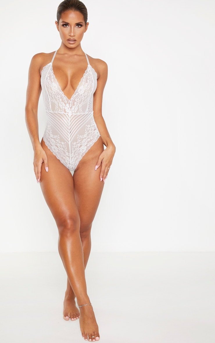 White Mixed Delicate Lace Body 4