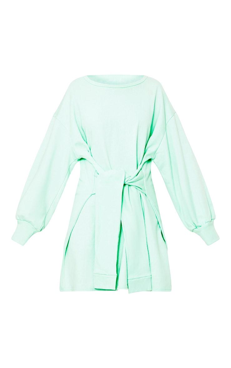 Kareena Mint Tie Waist Sweater Dress 3