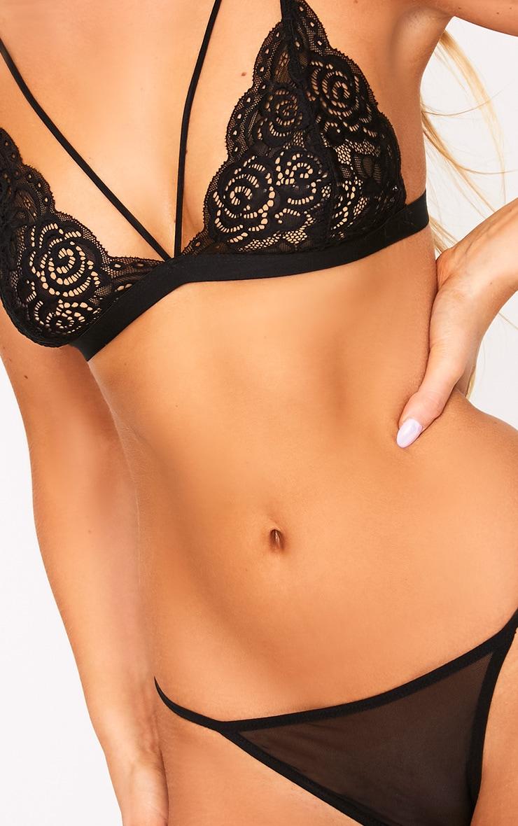 Black Sheer Lace Soft Bra 5