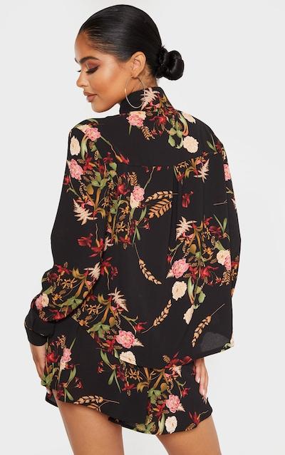 Petite Black Oriental Shirt