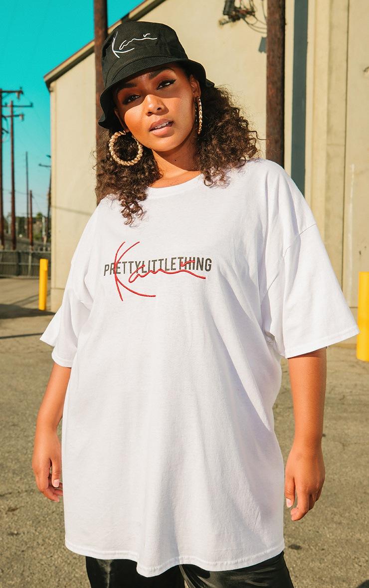 KARL KANI White Embroidered T Shirt  2
