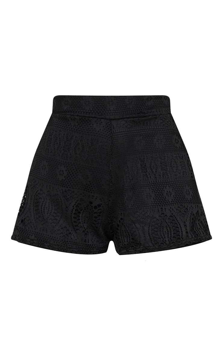 Black Fishnet Crochet Short 3