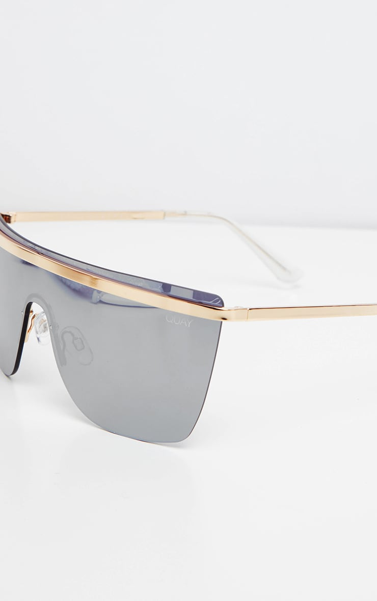 QUAY Gold And Silver Get Righ Sunglasses 3