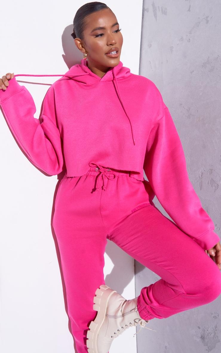 RENEW Pink Oversized Crop Hoodie 1