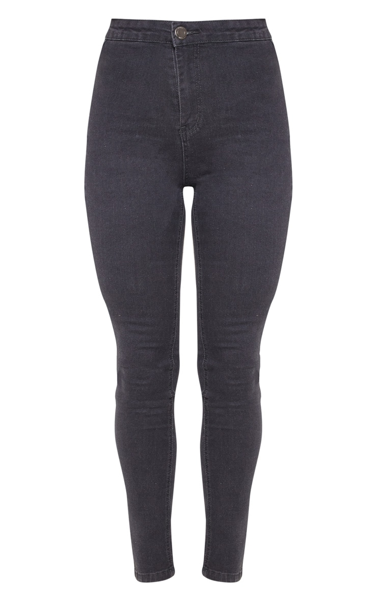 Dark Grey Disco Fit Skinny Jean  3