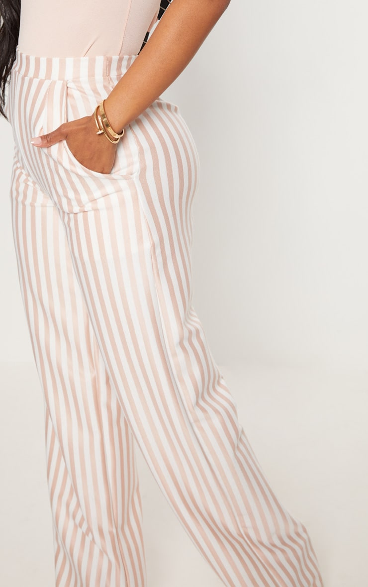 Shape White Striped Wide Leg Trousers 5