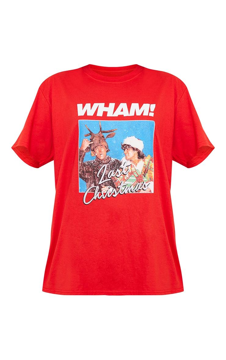 Red Wham Last Christmas Printed T Shirt 5