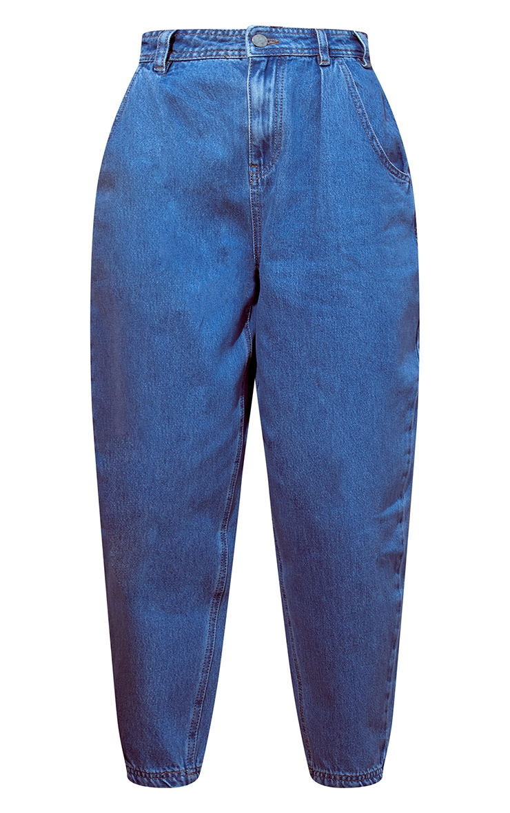 Blue Light Wash Balloon Denim Jeans 5