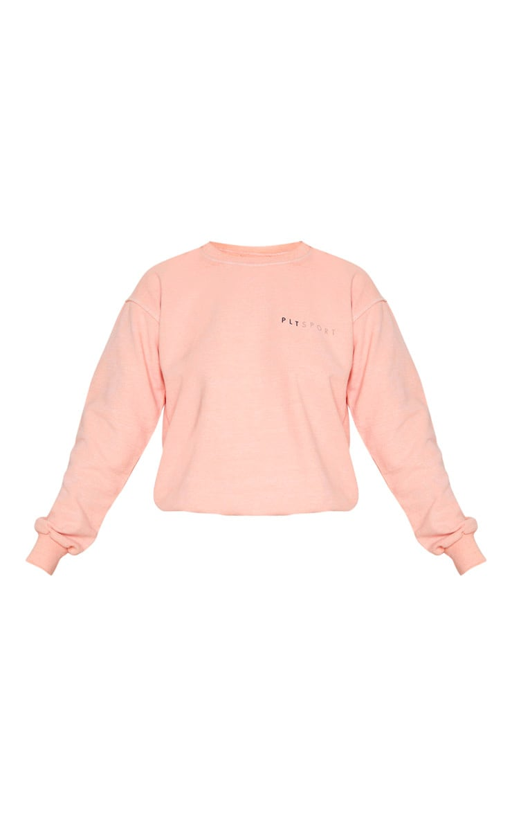 PRETTYLITTLETHING Peach Sports Sweat 3