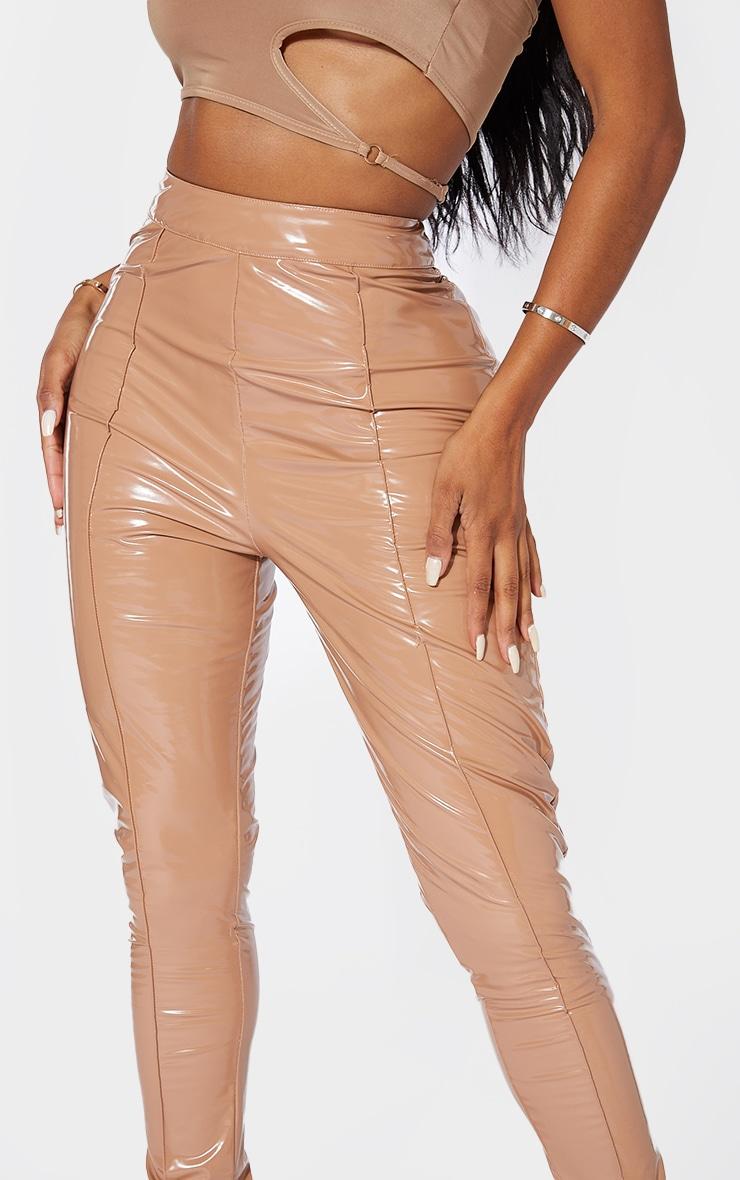 Shape Stone Vinyl High Waist Seam Detail Skinny Pants 4