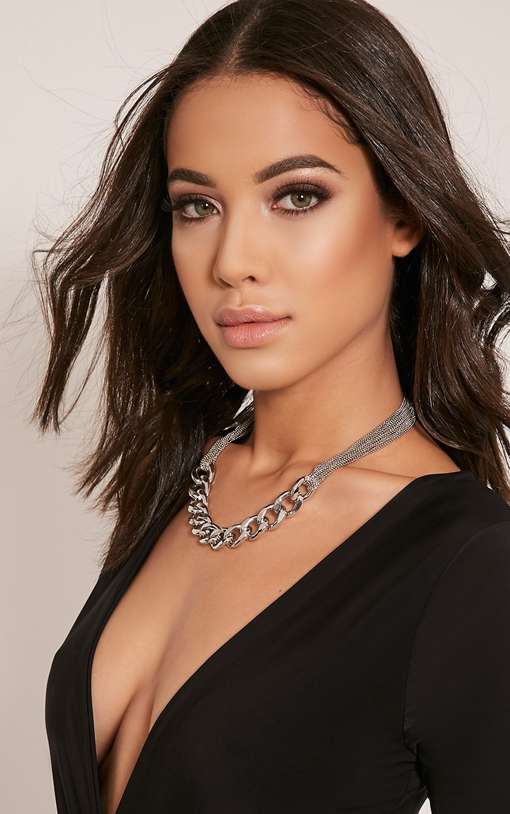 Lexi Silver Chain Link Necklace 3