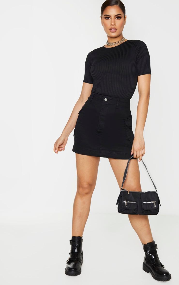 Tall Black Cargo Pocket Detail Skirt 1