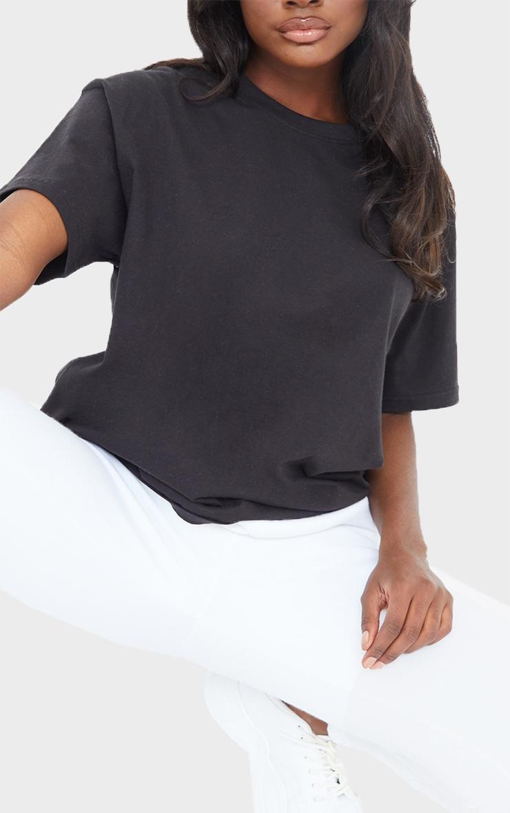 Tall - Tee-shirt noir oversize style boyfriend 4